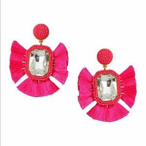 Suzanna Dai Fuchsia Statement Earrings